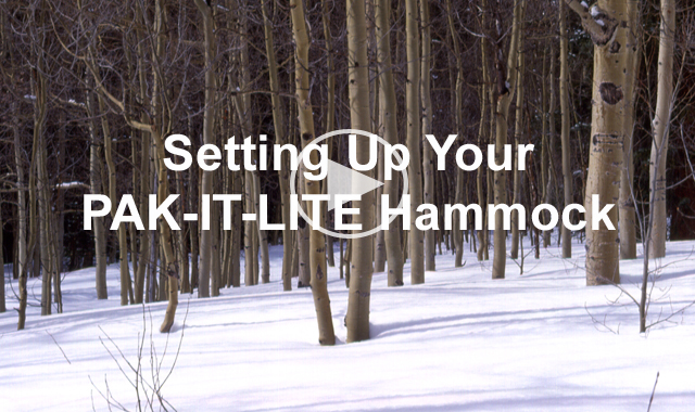 How to set up your PAK-IT-LITE hammock